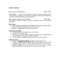 sap abap 2 years experience resume resume for study