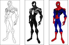 spiderman coloring page virtren com