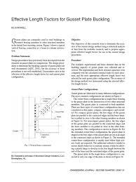 effective length factors for gusset plate buckling buckling column