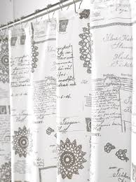 Shower Curtains With Writing Endearing Shower Curtains With Writing Inspiration With Shower