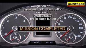 vw polo service light reset youtube