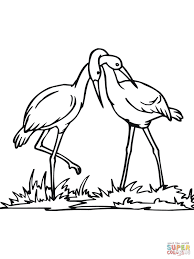 stork couple coloring free printable coloring pages