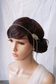 headpiece wedding 1920s wedding headpiece gold deco hair accessory gold