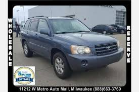 toyota milwaukee used toyota highlander for sale in milwaukee wi edmunds