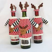 Deer Decor For Home by New Christmas Decor Red Wine Bottle Decor Basket Cover Bags Pouch