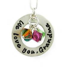Stamped Jewelry Jc Jewelry Design We Love You Grandma Necklace Hand Stamped