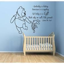 Pooh Nursery Decor Winnie The Pooh Quotes Children Mural Boy Nursery