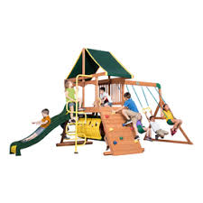 Backyard Discovery Winchester Playhouse Shop Playsets U0026 Swing Sets At Lowes Com