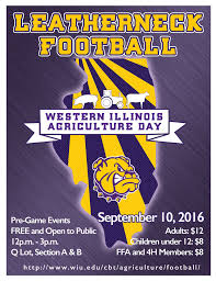 wiu to celebrate ag day family day and leatherneck football