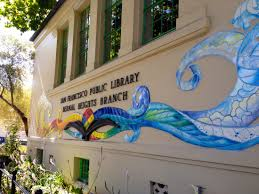 new book about bernal library mural is required reading for san librarymuralnew