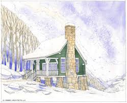 home plans for a cozy cottage in enduring stone cabin living