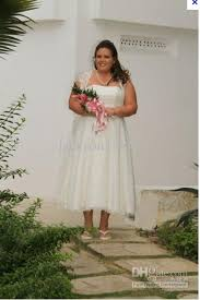 plus size wedding dresses with sleeves tea length discount strapless lace tea length cap sleeve gown style 9t9948