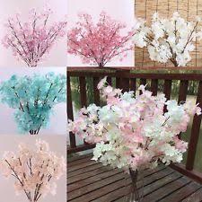 Fake Flowers For Home Decor Cherry Blossom Bunches Décor Ebay