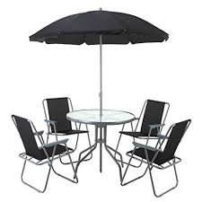 Patio Umbrella Table And Chairs Amazon Com Palm Springs Outdoor Dining Set With Table 4 Chairs