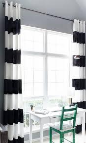 Black White Stripe Curtain Diy Black White Striped Curtains