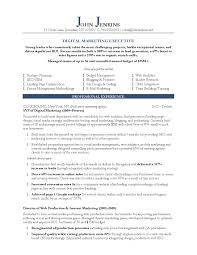 Sample Resume Objectives For Training by 10 Marketing Resume Samples Hiring Managers Will Notice