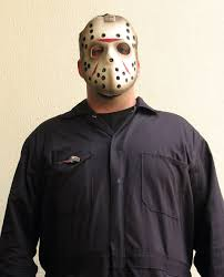 Jason Costume Jason Free Stock Photo A Man In A Hockey Mask Costume At