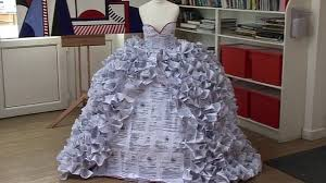 wedding dress made of divorce papers for gcse project bbc news