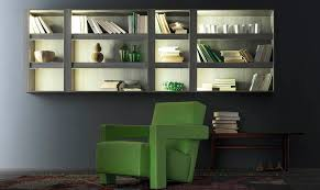 wall mounted bookcase contemporary wooden with built in