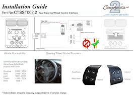 ctsst002 2 steering stalk control adaptor pioneer for seat altea