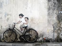 where to find the street art in georgetown penang map children in a boat by ernest zacharevic where to find street art in georgetown