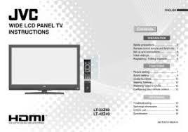 jvc hd 56g786 l lt 42z49 jvc lcd flat screen tv television hdmi manual