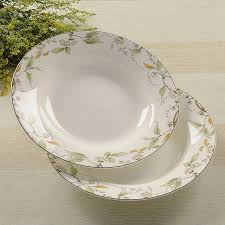 wedding plate 8 inch bone china soup plate ceramic wedding plates leaf