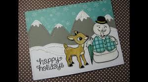 card series 2016 day 3 inkadinkado rudolph the