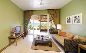 tropical themed living room tropical themed living room ideas with green wall color and