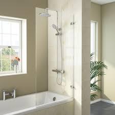 square bath screen bath shower screens victorian plumbing newark hinged square bath screen 780 x 1400mm medium image