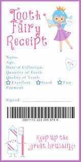 tooth fairy receipt printable such a cute idea just for fun