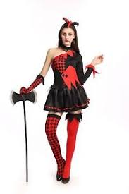 Halloween Costumes Size 10 12 Ladies Red U0026amp Black Vampire Clown Fancy Dress Costume Halloween