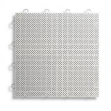 deck and patio flooring interlocking tiles perforated white