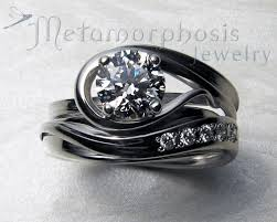 free wedding band unique free form engagement ring set design your own
