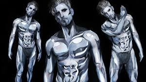 behind the scenes of the silver surfer body paint with jesse