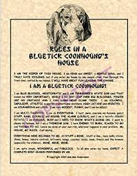 is a bluetick coonhound a good pet amazon com rules in a bluetick coonhound u0027s house prints posters