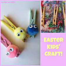 mini monets and mommies easter clothespin bunny kids u0027 craft