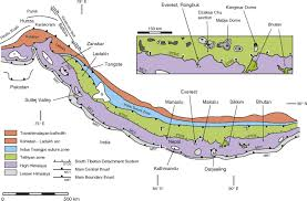 Himalayan Mountains Map Crustal Melting Ductile Flow And Deformation In Mountain Belts