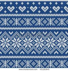 fair isle festive sweater fairisle design seamless knitted stock vector