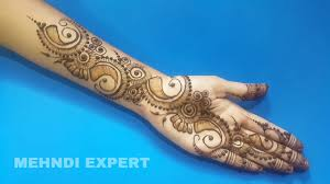 simple and beautiful arabic mehndi design for hands ll step by