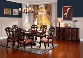 Cherry Dining Room Homelegance 2243 76 Deryn Park To Oval Formal Dining Room Set