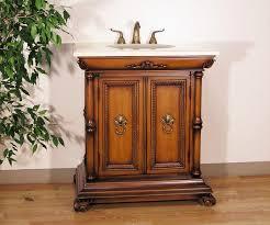 32 Bathroom Vanity Carey 32 Inch Traditional Single Medium Brown Bath Vanity