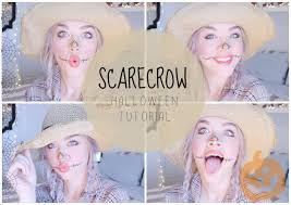 halloween makeup tutorial easy easy halloween makeup tutorial scarecrow youtube