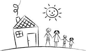 casa disegno adesivo bambini disegno famiglia e casa tenstickers
