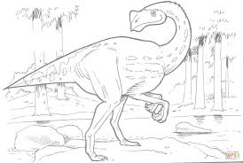 pergrasylis dinosaur coloring page free printable coloring pages