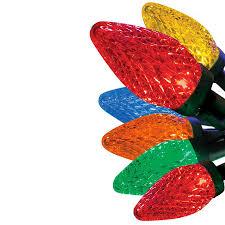 energy star led c9 lights shop ge 25 count led c9 multicolor christmas string lights energy