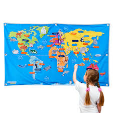 Amazon River On World Map by 55 U201d Discovery Kids Fabric World Map Christmas Tree Shops Andthat