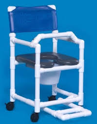 seat shower commode chair with bar