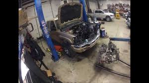 lb7 engine removal time lapse youtube