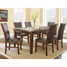 Adalyn Home Marble Top Dining Table  Chairs Costco UK - Costco dining room set